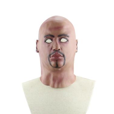 リアルなラテックスの人間のマスクハロウィーンのコスチュームコスプレのファンシードレスのための恐ろしいフルヘッド男の男のマスク