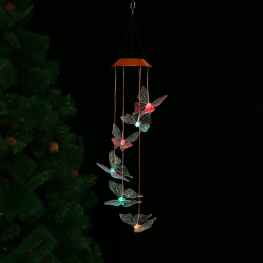 Color-Changing LED Solar Mobile Wind Chime Pathonor ...