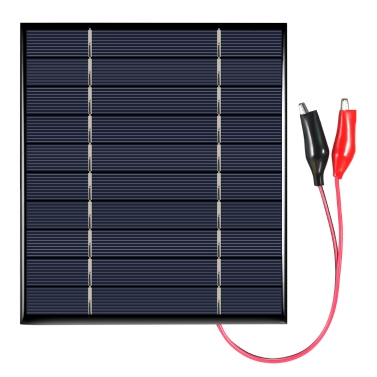 2.5W 5V Polycrystalline Silicon Solar Panel with Alligator Clips Solar Cell for DIY Power Charger