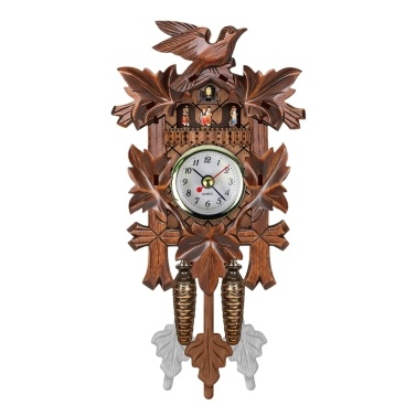 Cuckoo Wall Clock Bird Wood Hanging Decorations For Home