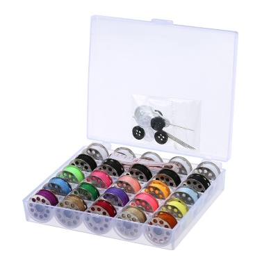 15pcs Mixed Colors Bobbins + 5pcs White Bobbins + 5pcs Black Bobbins Thread Bobbins Sewing Accessories Supplies Kit