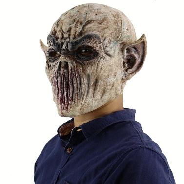 Cabeça de látex cheia Máscara de monstro assustador sangrenta Máscara de fantasma assustador mal