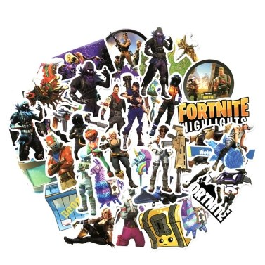 40pcs Fortnite Night Game PVP Games Graffiti-art Sticker Strong Adhesion Stickers