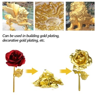 24K Gold Flakes Edible Food Decorating Foil Paper Cuisine Mousse Cake Baking Pastry Art Craft Decor