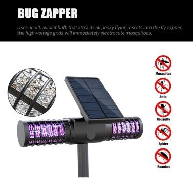 Solar Powered Bug Zapper Sales Online black - Tomtop