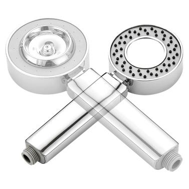 Hochdruck-Duschkopf Bad Handbrause Doppelseitiger Spray SPA Duschkopf Chrom poliert Handbrause