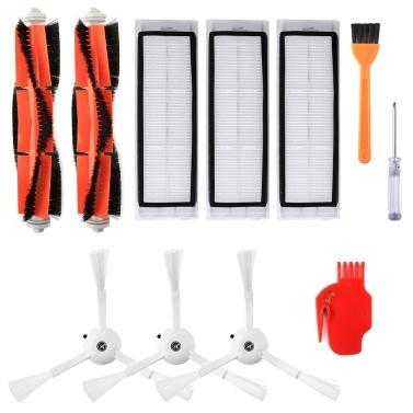 Roboter-Staubsauger-Filter Seitenbürsten Hauptbürsten-Kit 11-tlg. Ersatzzubehör für XIAOMI Roborock S55 S50 S51 Roboter-Staubsauger