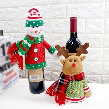 New Christmas Wine Bottle Cover Christmas Wine Bottle Decoration
