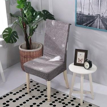 Gedruckter Stuhlbezug aus weicher Milchseide, Sitzpolster-Stretch-Anti-Staub