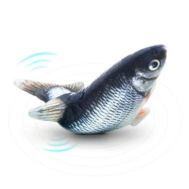 Realistic Plush Simulation Electric Doll Fish Funny Interactive Pets Chew Bite Supplies for Cat Fish Flop Cat Toy for Biting and Kicking