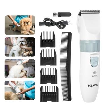 Pet Grooming Clippers Tierhaarschneider Geräuscharmer Trimmer Hundeschneiden Akku-Clipper-Kit Wiederaufladbare Rasierer für Haustiere