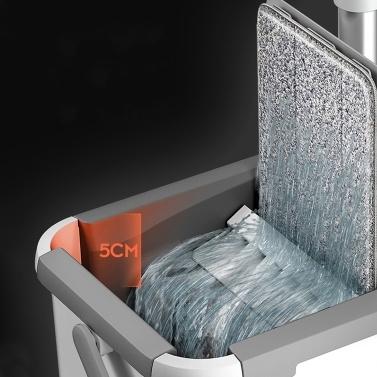 Mikrofasermopp mit Eimer Bodenreinigung Squeeze Hand Free Floor Mop Waschbare Pads Wiederverwendbare Staubwischer mit weichen Nachfüllpads Hartholz Holzbodenreiniger Mop Dry Wet Mop
