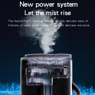 1000 ml Nebel Luftbefeuchter Diffusor mit Bluetooth-Lautsprecher Buntes Licht Leiser Luftbefeuchter Diffusor mit ätherischen Ölen Automatische Abschaltung Top Fill Luftbefeuchter für Schlafzimmer USB USB Powered Home Luftbefeuchter