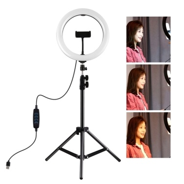 PULUZ 10.2 Inches 80 LEDs Circle Round Light Selfie Lamp