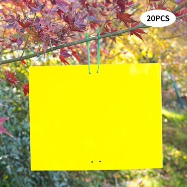 Dual-Sided Sticky Traps Indoor Outdoor Plant Gnat Traps with Twist Ties