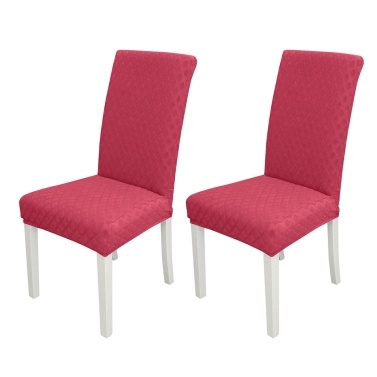 2pcs Dining Chair Slipcover High Stretch Removable Chair Cover
