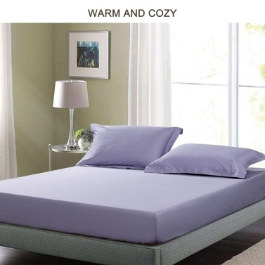 ABODY Bedspread Pure Color Anti-slip Dust-Resistant Enlarged 26cm Height 1.5m 59*79in 100% Cotton Extra Soft Warm Cozy for All Seasons