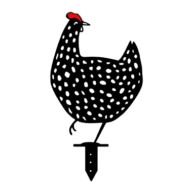Rooster Silhouette Stake Garden Art Animal Stakes