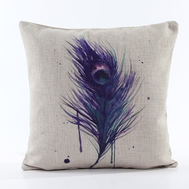 Vintage Retro Country Home Feather Throw Pillow Case Cover Protector Decorative Bed Sofa Car Waist Cushion Decor Gift