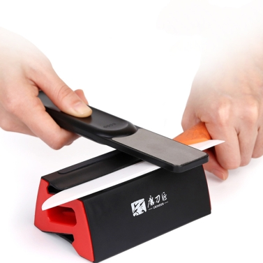 GRINDER Fine/Coarse Combination Double Sides Knife Sharpener Portable Fine and Coarse Knife Sharpening Tool