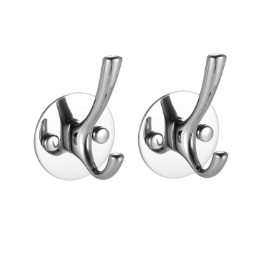2pcs/set SS Wall-mounted Hooks High Quality Stainless Steel Hooks Multifunctional Space-saving Clothes Hook Single Hook Set