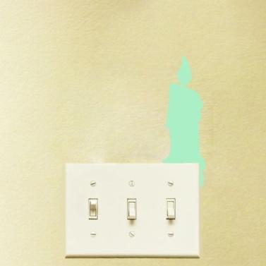 Nacht Leuchtwandaufkleber Kinder Schlafzimmer Wohnzimmer Schöne Schalter Dekoration Aufkleber