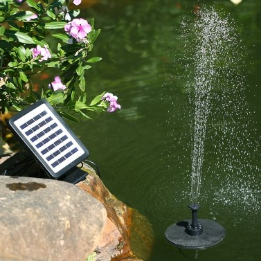 35% OFF Solar Power Floating Fountain 7V 1.5W Solar Panel,limited offer $31.99