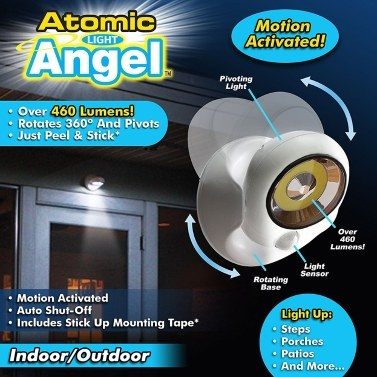 36% OFF Original Atomic Angel Cordless Motion Activated LED Light,limited offer $7.99