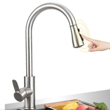 Küchenarmatur heiß und kalt einzigen Griff herausziehen Wasserhahn