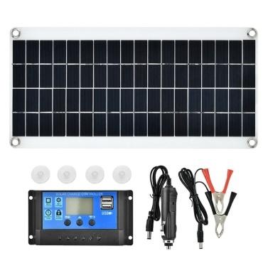 15 W 5 V tragbarer doppelter USB-Anschluss Flexibles, hocheffizientes Sunpower Polycrystalline Solar Panel Power Kit mit Controller