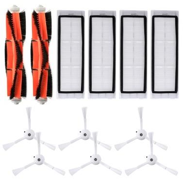 Roboter-Staubsauger-Filter Seitenbürsten Hauptbürsten-Kit 12-tlg. Ersatzzubehör für XIAOMI Roborock S55 S50 S51 Roboter-Staubsauger