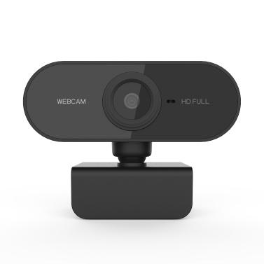 Videocamera Full HD 1080P Webcam Mini USB Videocamera Microfono incorporato Flessibile ruotabile per laptop Desktop e giochi