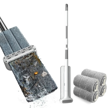 Microfiber Mop Floor Cleaning System Washable Pads Reusable Dust Mops with Soft(2PCS mop pads)