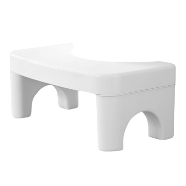 Robuster Kunststoff-Fußschemel für die Toilette