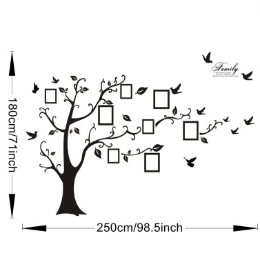 3D PVC Wall Stickers Photo Frames Family Tree Wall Decal Easy to Install Apply DIY Photo Gallery Frame Decor Sticker Home Art Decor
