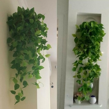 1Pcs Artificial Plants Vines Greenery Rattan Fake Hanging Plant Faux Hanging Flowers Vine for Wall Indoor