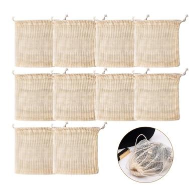 10 PCS Cotton Mesh Bags