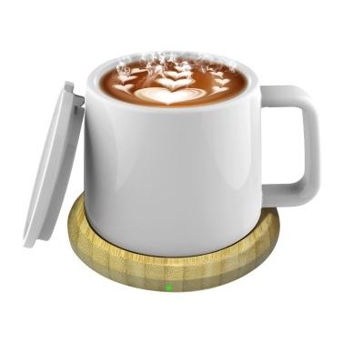 USB Cup Warmer 55°C Constant Temperature Desk Coffee Mug Warmer with Lid