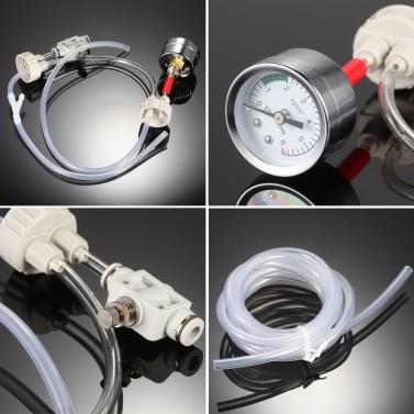 DIY CO2 Generator System Kit with Pressure Guage Air Flow Adjustment Vavle Water Plant Aquarium Accessory Necessity