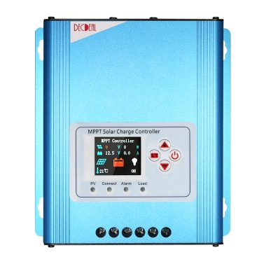 Decdeal 30A MPPT Solar Charge Controller 12V/24V/48V Battery Charging Regulator with LCD Display Overload Protection Data Record