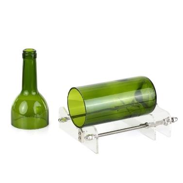 DIY Glasflaschenschneider Acrylflasche Schneidwerkzeug mit Schleifpapier für Wein Bierflaschen Einmachgläser