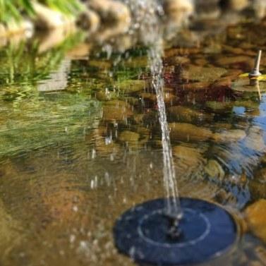 Solar Birdbath Fountain Pump 2.4W Outdoor Floating Water Fountain Panel Kit