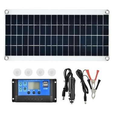 20 W 5 V tragbarer doppelter USB-Anschluss Flexibles, hocheffizientes Sunpower Polycrystalline Solar Panel Power Kit mit Controller