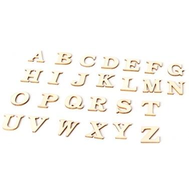 2 Kits Portable Delicate Wooden 26 Großbuchstaben