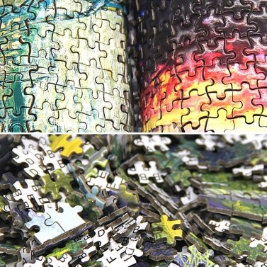 Jigsaw Puzzles 1000 Pieces Mini Puzzle for Adults and Kids Entertainment Creative Gift DIY Toys for Home Decor (Village)