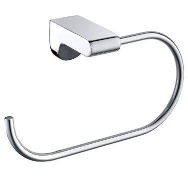 Homgeek High-quality Wall Mounted Stainless Steel Open Bath Towel Ring Hook Holder Bar Rack Hanger Durable Bathroom Accessories Chrome
