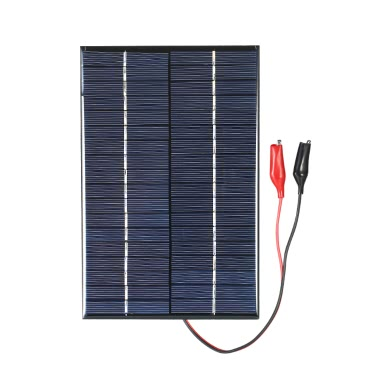 4.2W 18V Polycrystalline Silicon Solar Panel with Alligator Clips Solar Cell for DIY Power Charger