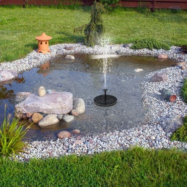 Watering Solar Power Fountain Pool