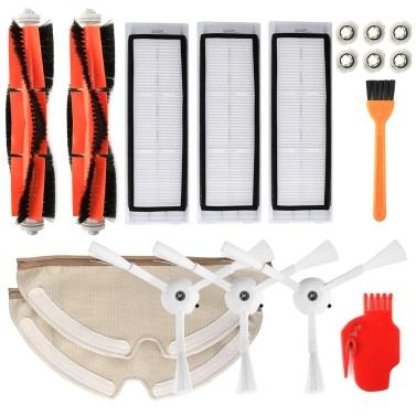 Roboter-Staubsaugerfilter Seitenbürsten Hauptbürsten-Kit 18-tlg. Ersatzzubehör für XIAOMI Roborock S55 S50 S51 Roboter-Staubsauger
