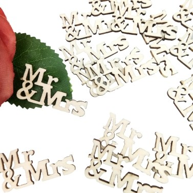 20 Stücke Mr & Mrs Muster Dekoration Scheiben DIY Zubehör für Handgemachte Holzhaus Holz Handwerk Sammelalbum Verschönerung